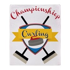 Championship Curling Throw Blanket