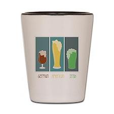 German - American - Irish Shot Glass