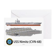 USS Nimitz CVN-68 Greeting Card