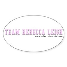 Team Rebecca Leigh Oval Decal