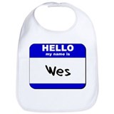 hello my name is wes  Bib