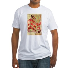 Flat Mississippi Fitted T-Shirt