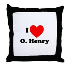 I Love O. Henry Throw Pillow
