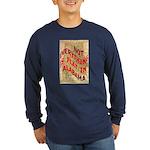Flat Alabama Long Sleeve Dark T-Shirt