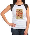 Flat Alabama Women's Cap Sleeve T-Shirt