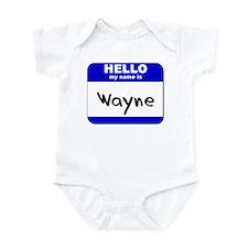 hello my name is wayne  Onesie