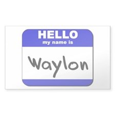 hello my name is waylon Rectangle Decal