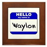 hello my name is waylon  Framed Tile