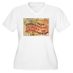 Flat Washington Women's Plus Size V-Neck T-Shirt