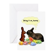Easter Bunny Attitude Greeting Cards (Pk of 10