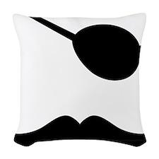Mustache-049-A Woven Throw Pillow