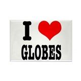 I Heart (Love) Globes Rectangle Magnet (10 pack)