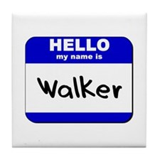 hello my name is walker  Tile Coaster