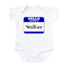 hello my name is walker  Infant Bodysuit