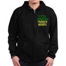 Little Jamaican Troulbe Maker Zip Hoodie