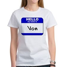 hello my name is von Tee