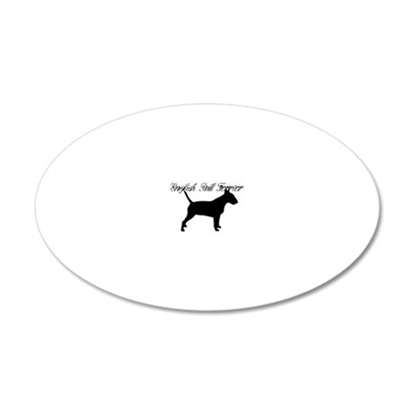 English Bull Terrier Pride 20x12 Oval Wall Decal