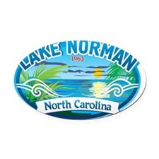 Lake Norman Waterview  Oval Car Magnet