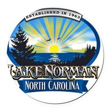 Lake Norman Sun Rays Logo Round Car Magnet