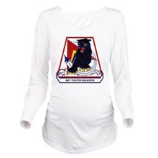 494th FS Panthers Long Sleeve Maternity T-Shirt