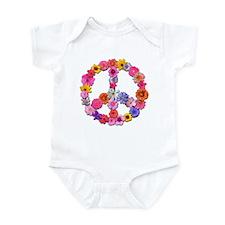 Peace Flowers Infant Bodysuit