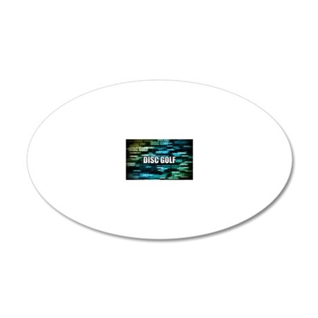 Disc Golf 20x12 Oval Wall Decal
