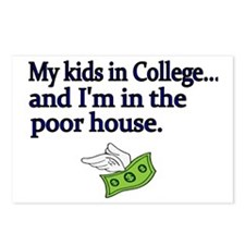 My kids in College and Im Postcards (Package of 8)