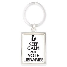Keep Calm and Vote Libraries Portrait Keychain