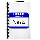 hello my name is vera Journal