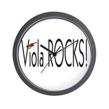 Viola Rocks!!! Wall Clock