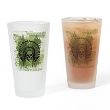 Skull Headdress Drinking Glass