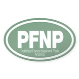 Petrified Forest National Park Oval Stickers