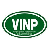 Virgin Islands National Park Oval Decal