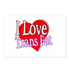 I Love Trans Fat Postcards (Package of 8)