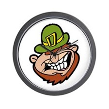 Crazy Leprechaun Wall Clock