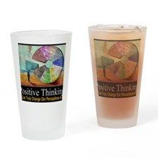 Positive Thinking Drinking Glass