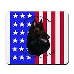 Belgian Sheepdog & Flag Mousepad