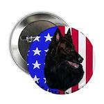 Belgian Sheepdog & Flag Button