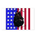 Belgian Sheepdog & Flag Postcards (Package of 8)