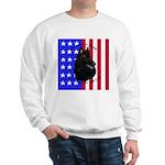 Belgian Sheepdog & Flag Sweatshirt