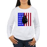 Belgian Sheepdog & Flag Women's Long Sleeve T-Shir