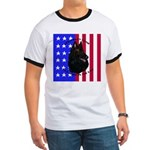 Belgian Sheepdog & Flag Ringer T