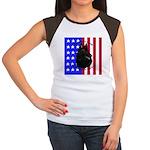 Belgian Sheepdog & Flag Women's Cap Sleeve T-Shirt