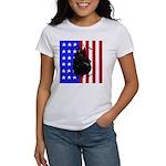 Belgian Sheepdog & Flag Women's T-Shirt