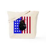 Belgian Sheepdog & Flag Tote Bag