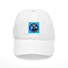 Agility Black Poodle Baseball Cap
