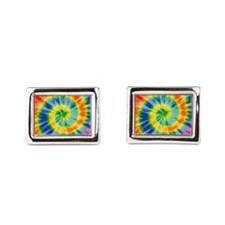 Printed Tie Dye Pattern Cufflinks