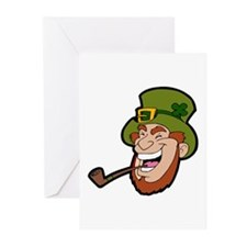 Laughing Leprechaun Greeting Cards (Pk of 10)