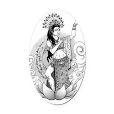 Goddess of the Dance Oval Car Magnet