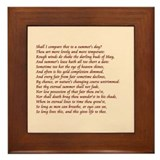 Sonnet number 18 Framed Tile